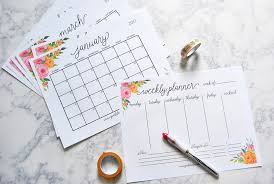 printable calendar home organization 40 awesome free printable 2017 calendars and planners sparkles of
