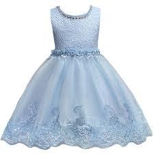 light blue dresses for kids blue lace beaded girls dress promotion shop for promotional blue