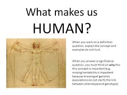 theme question definition what makes us human when you work on a definition question explain