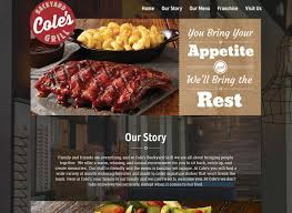 cole u0027s backyard grill responsive wordpress design lunarbot studio