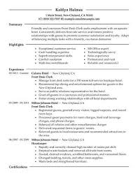 Qualities Of A Front Desk Officer Best Front Desk Clerk Resume Exle Livecareer