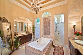 awesome classic large bathroom design ideas feature cream wall and