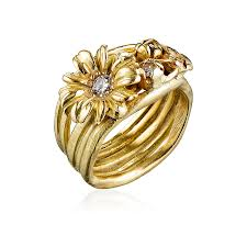 golden flower rings images Summer night ring rebecca elbek jpg