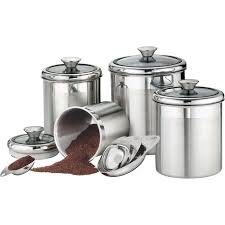 kitchen canisters stainless steel canisters interesting stainless steel kitchen canister set square