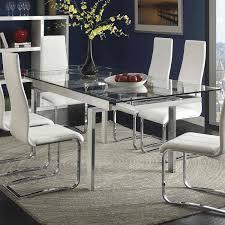 glass and chrome dining table glass chrome dining table mediajoongdok com