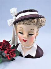 Napco Lady Head Vase Lady Head Vase Ebay