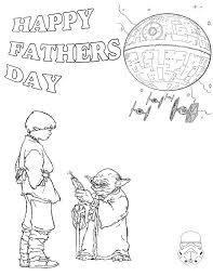 star wars fathers day coloring page h u0026 m coloring pages