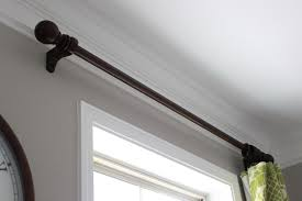 Wood Curtain Rods And Brackets Decorating Fascinating New Ceiling Mount Curtain Rods Home Depot