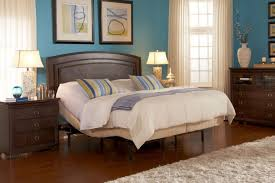 Curtains For Dark Blue Walls Bedroom Light Brown Mahogany Bed Wit Drawers Cabinet And