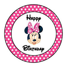 Minnie Mouse Easter Stickers 24 Personalized Minnie Mouse Happy Birthday Favor Labels