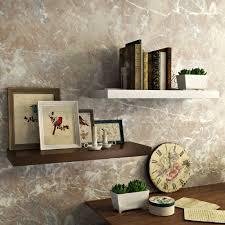 Designer Wall by Wall Shelf Set Of 2 Floating Wall Rack Black U0026 White