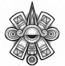a tribal aztec design of xolotl the aztec god of and