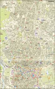 Utah Map Of Cities by Large Detailed Road Map Of Madrid City Center With Buildings