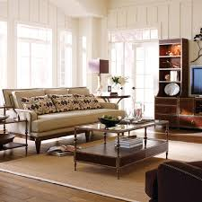 amazing modern living room decor with brown couch combined twin
