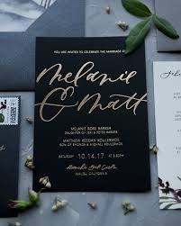 wedding invitations glamorous mixed metals wedding invitations