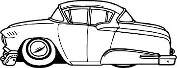 vintage antique cartoon car coloring wecoloringpage
