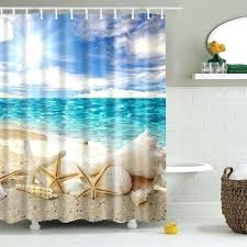 Themed Fabric Shower Curtains Themed Shower Curtains Starfish Fabric Shower Curtain