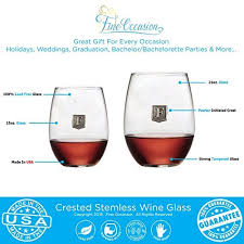 novelty wine glasses gifts stemless wine glass novelty gift your letter crest