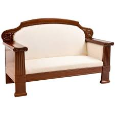 deco sofa deco sofa with polished mahogany frame circa