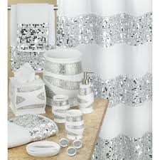 White Shower Curtains Popular Bath Sinatra White Shower Curtain And Bath Accessories