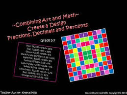 free math activity create a design uses fractions decimals and