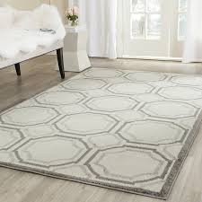 Square Indoor Outdoor Rugs Safavieh Amherst Collection Amt411e Ivory And Light Grey Indoor