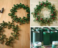 diy christmas decorations with toilet rolls super easy diy