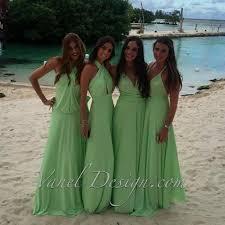 bridesmaid dress infinity bridesmaids dress green color