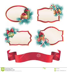 christmas blank labels and stickers design set royalty free stock