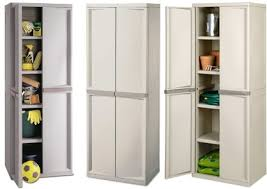 storage cabinets with doors and shelves of sterilite 4 shelf utility storage cabinet putty 01428501