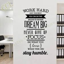 free shipping motivation wall decals office room decor never give