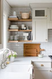 evergreen kitchen remodel reveal shelving neutral kitchen and