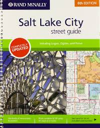 Zip Code Map Salt Lake City by Rand Mcnally Street Guide Salt Lake City Rand Mcnally Salt Lake