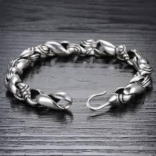 antique sterling silver bracelet images Latest old look 925 sterling silver men 39 s antique silver bracelet jpg