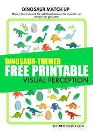 free visual perception printable dinosaur theme the ot toolbox