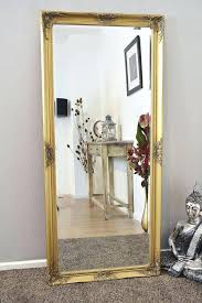 30 inspirations of shabby chic gold mirrors
