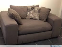 canapé tissu taupe canapé tissu épais brun taupe très confortable a vendre 2ememain be