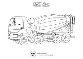 concrete mixer truck printable coloring pages pinterest