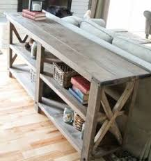 Rustic Side Table First Ever Project The Rustic X Side Table Living Room Tutorials