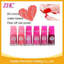 7ml 60color water based peel off nail polish non toxic easy use
