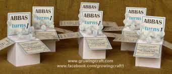 pop up invitation abbas turns 1 growing craft