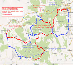 Dolores Colorado Map by Arches Ascents Motorcycle Tour