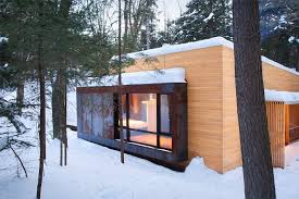 gallery la luge a modern ski cabin in quebec yiacouvakis