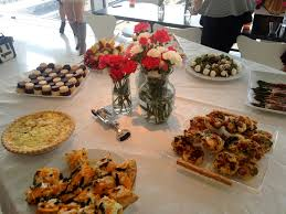 photo bridal shower luncheon food image