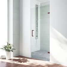 28 Shower Door Vigo Soho 28 25 X 70 63 Hinged Adjustable Frameless Shower Door