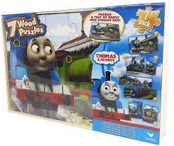 amazon com thomas the tank engine 7 pack wood puzzles toys u0026 games