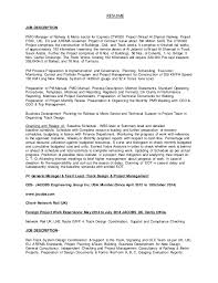 exle of a professional resume for a cv suresh44uic