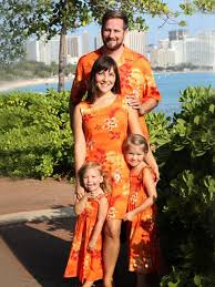 Tropical Themed Clothes - matching hawaiian for family