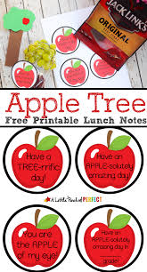 apple tree lunchtime craft and free printable lunch notes