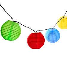 led lantern string lights holigoo 30 led lantern ball solar string lights outdoor lighting